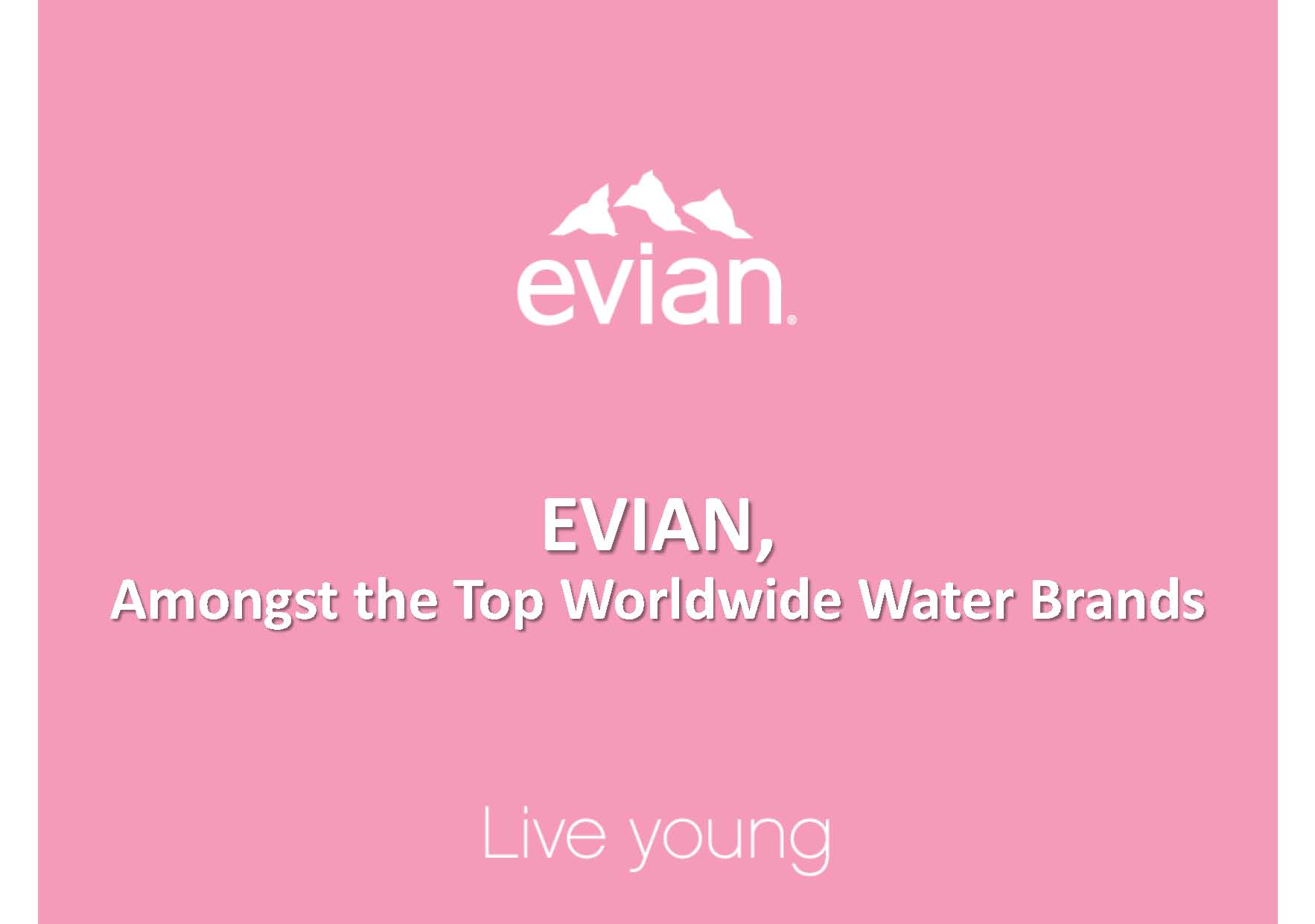 Evian  Badoit strategy and communication 2013